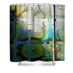 Ghost 1 Shower Curtain