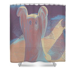 Ghost #2 Shower Curtain