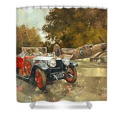 Ghost And Spitfire  Shower Curtain by Peter Miller
