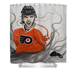 Shower Curtain featuring the painting Ghost Bear by Kevin F Heuman