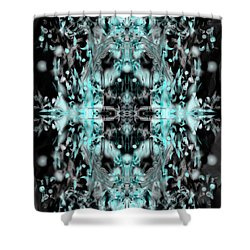 Shower Curtain featuring the digital art Ghost Flake Inverted by Reed Novotny