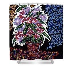 Ghost Flower Shower Curtain by Robert SORENSEN