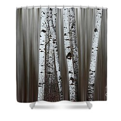 Shower Curtain featuring the photograph Ghost Forest 1 by Bob Christopher