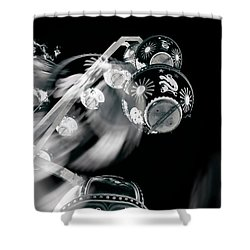 Shower Curtain featuring the photograph Ghost In The Machine by Wayne Sherriff