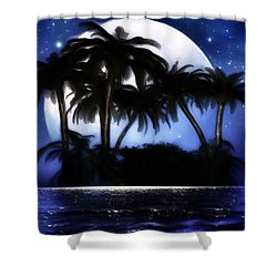 Shadow Island Shower Curtain by Gabriella Weninger - David