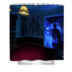 Ghost Of The Parlor Shower Curtain