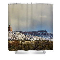 Ghost Ranch In Winter Shower Curtain