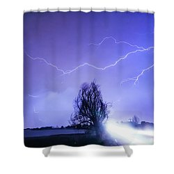 Shower Curtain featuring the photograph Ghost Rider by James BO Insogna