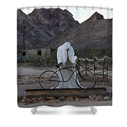 Shower Curtain featuring the photograph Ghost Rider by Suzanne Oesterling
