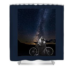 Shower Curtain featuring the photograph Ghost Rider Under The Milky Way. by James Sage