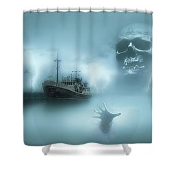 Ghost Ship 0002 Shower Curtain