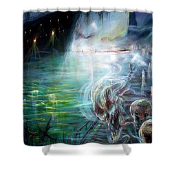 Ghost Ship 2 Shower Curtain by Heather Calderon