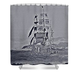 Ghost Ship Shower Curtain by Blair Stuart