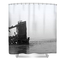 Ghost Ship Shower Curtain by Joseph Skompski