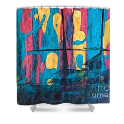 Ghost Ship Shower Curtain by Marcia Dutton