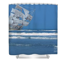 Ghost Ship On The Treasure Coast Shower Curtain
