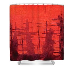Ghost Ships Shower Curtain