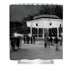 Ghost Skaters Shower Curtain