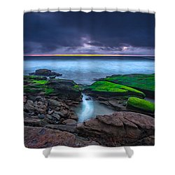 Ghost Tide Shower Curtain by Peter Tellone