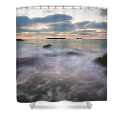 Ghost Tides Shower Curtain by Mike  Dawson