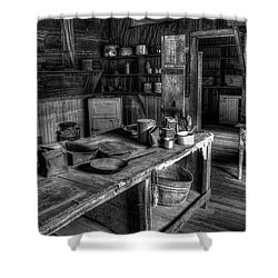 Ghost Town Kitchen Shower Curtain