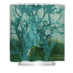 Ghost Tree Shower Curtain