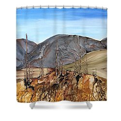 Ghost Valley Shower Curtain