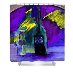 Ghost Wine Shower Curtain by Lisa Kaiser