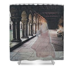 Shower Curtain featuring the mixed media Ghostly Adventures by Desiree Paquette