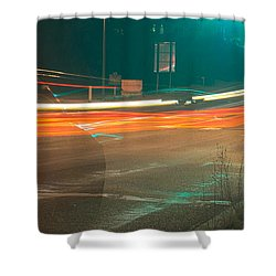 Ghostly Cars Shower Curtain by John Rossman