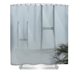 Ghostly Cool Shower Curtain