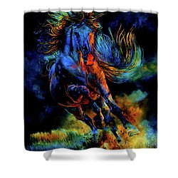 Shower Curtain featuring the painting Ghostly Encounter by Hanne Lore Koehler