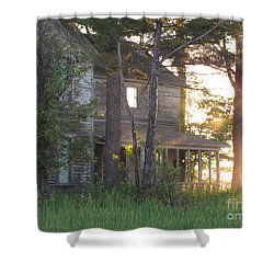 Ghostly Light Shower Curtain
