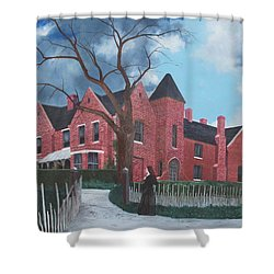 Ghostly Nun Of Borley Rectory Shower Curtain