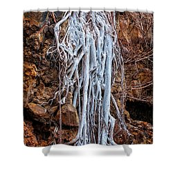 Ghostly Roots Shower Curtain by Christopher Holmes