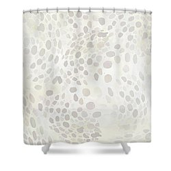 Ghostly Squid Spots Shower Curtain