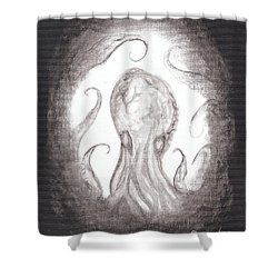 Ghostopus Shower Curtain by Christophe Ennis