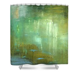 Shower Curtain featuring the painting Ghosts In The Water by Michal Mitak Mahgerefteh