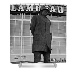 Ghosts Of Lambeau Shower Curtain by Tommy Anderson