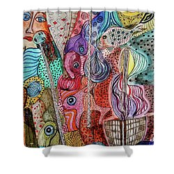 Ghostship Shower Curtain by Mimulux patricia no No