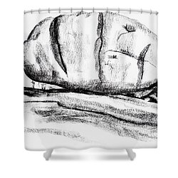 Giant Baked Potato At Elephant Rocks State Park Shower Curtain by Kip DeVore