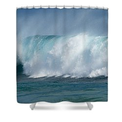 Giant Curling Wave Shower Curtain