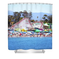 Life Is Like A Rollercoaster Shower Curtain