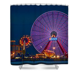 Giant Ferris Wheel Shower Curtain