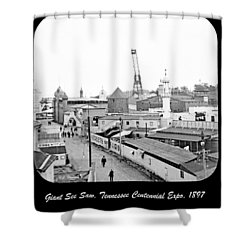 Shower Curtain featuring the photograph Giant See Saw Tennessee Centennial Exposition 1897 by A Gurmankin
