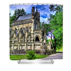 Giant Spring Grove Mausoleum Shower Curtain by Jonny D