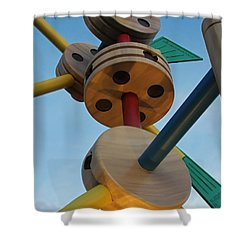 Giant Tinker Toys Shower Curtain