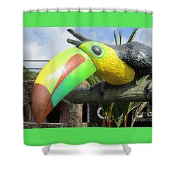 Giant Toucan Shower Curtain by Randall Weidner