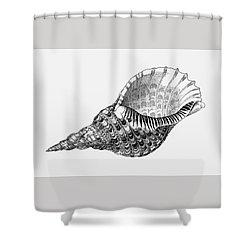 Giant Triton Shell Shower Curtain