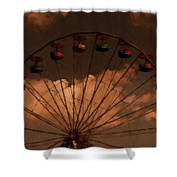 Shower Curtain featuring the photograph Giant Wheel by David Dehner
